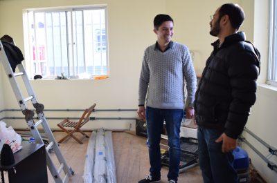 Prefeito visita obras de ampliação da empresa Belluno